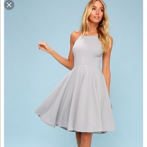 Irresistible charm grey midi dress LuLus